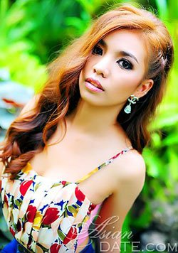 delightful Thailand girl wearing floral dress